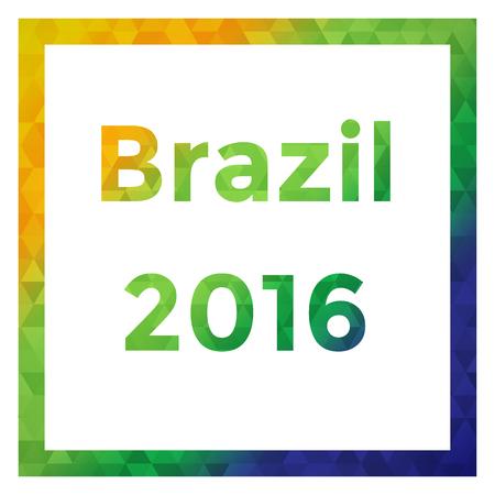 Brazil color vector illustration Фото со стока - 60337967