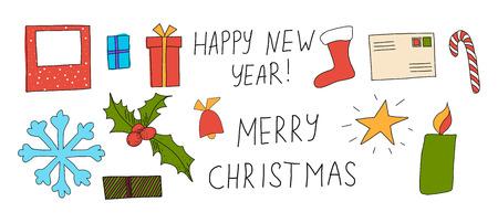 illustration of Christmas greeting card