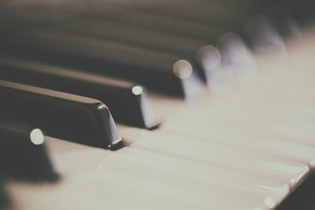 Photo of blurred piano keyboard