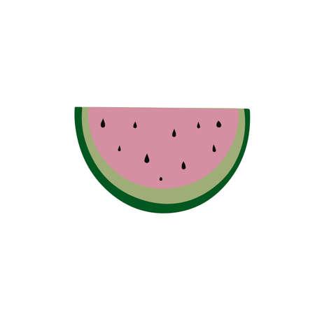 Watermelon in cartoon style.