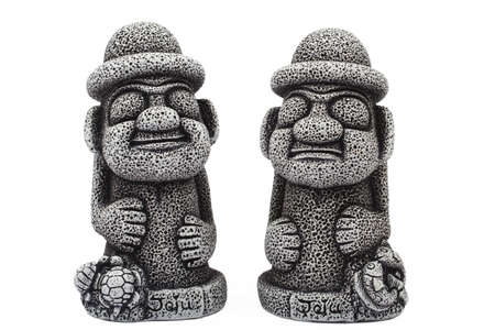 bring: Idols from Jeju island which protect from evil ghosts and bring good luck Stock Photo