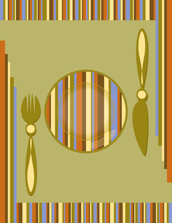 original background with a table set for registration of menu Vector