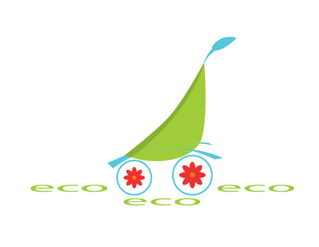 raw material: ecological logotype