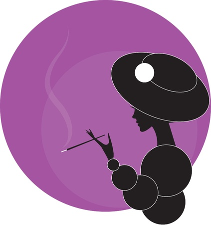 girlwoman with a cigarette Vector