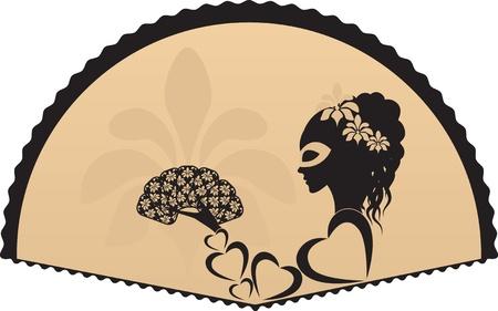 donna spagnola: ragazzadonna su maschere