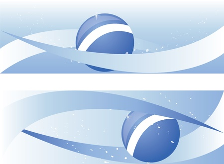 background with ball on sea Stock Vector - 9808757