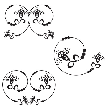 pattern with abstract flowers Illustration