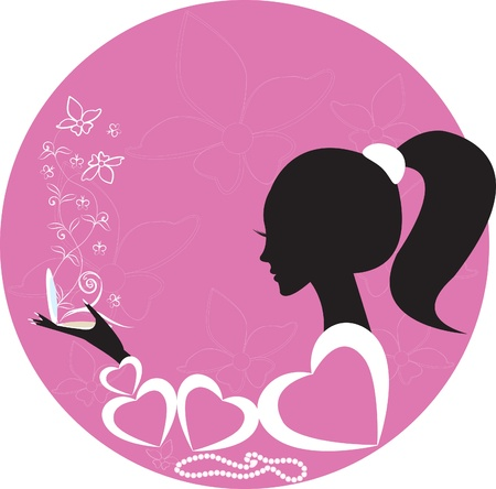 girlswoman with powder Vector