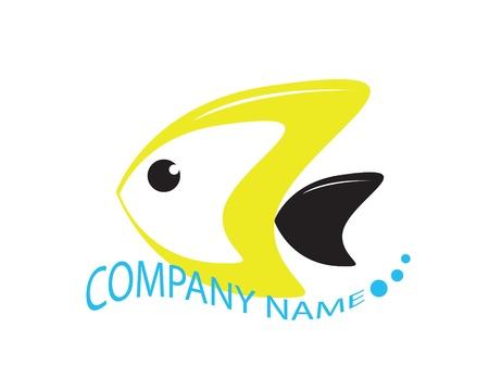 pez abstracto: Peces abstracta y agua de simbol