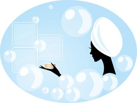 pretty woman or girl having a bath in a fashion style bath tub Фото со стока - 9931734