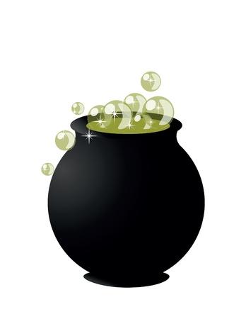 Witch's cauldron Illustration