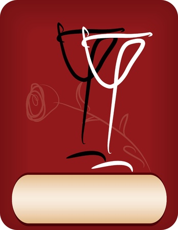 background for wine menu Vector