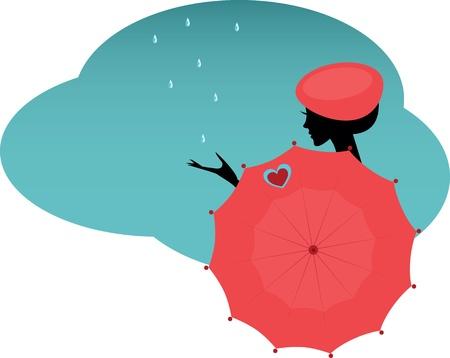 woman with an umbrella Vector