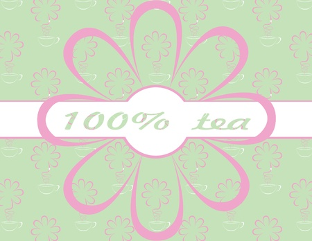 vector tea background Vector