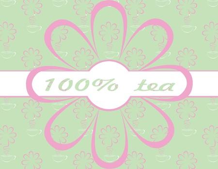 vector tea background Vector