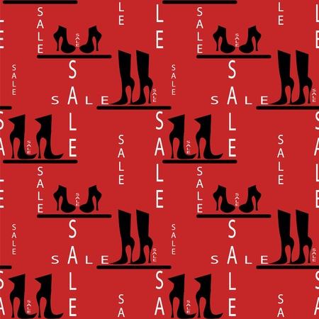 promotion girl: seamless pattern