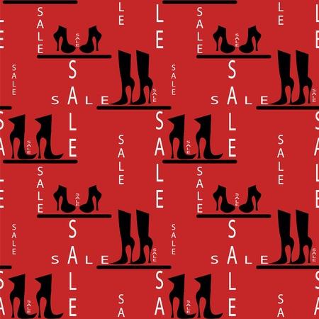 promotion girl: seamless pattern