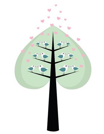 loving birds Vector