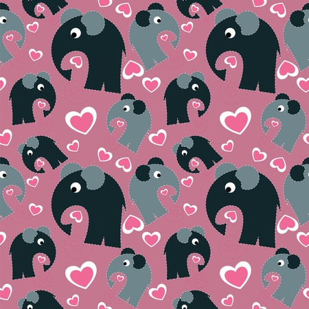small group of animal: seamless pattern