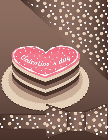 background with Pink cake  Vector