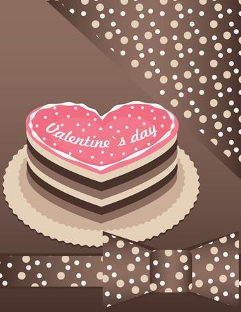 fond avec un gâteau rose