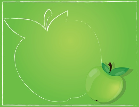 Background with apple Vector