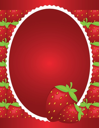 Simple Strawberry Background Design Stock Photo - 12245971