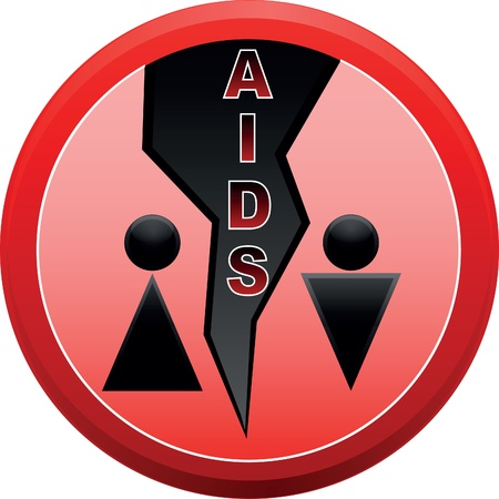 Stop AIDS. Stock Vector - 12245972