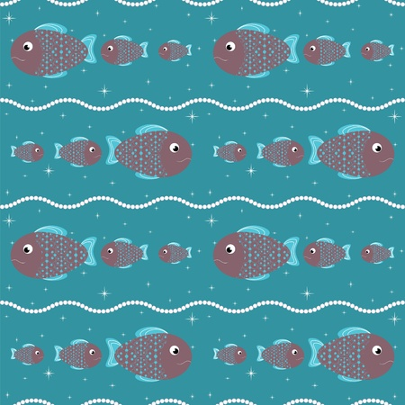 outline blue: seamless pattern