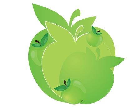 apple label design Vector