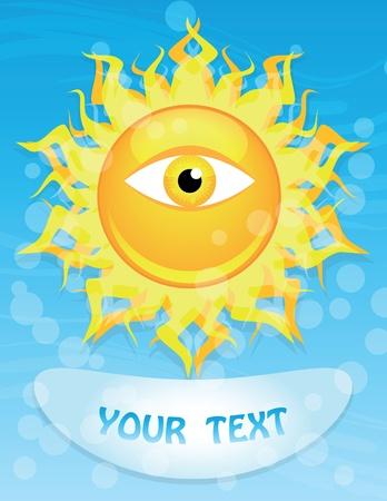 Big shining sun Vector