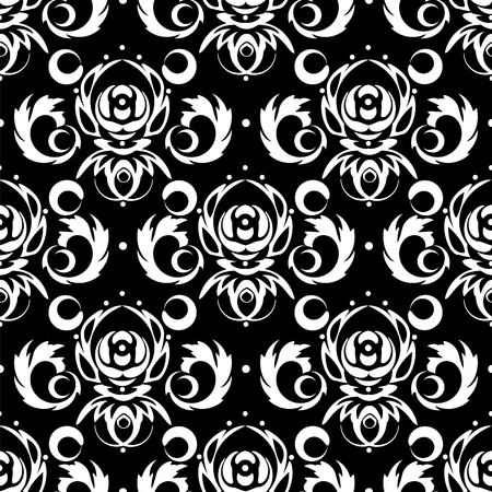 Black background for textile design. Vector