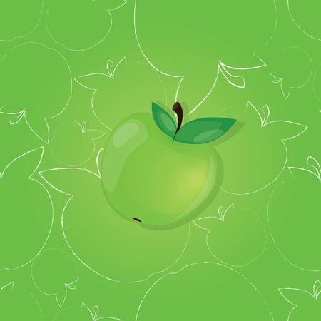 Apples - seamless vector pattern Vector
