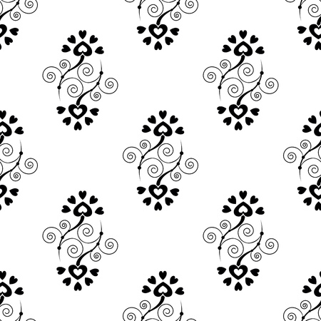 Elegance Seamless pattern with abstract flowers Stock Vector - 13484325