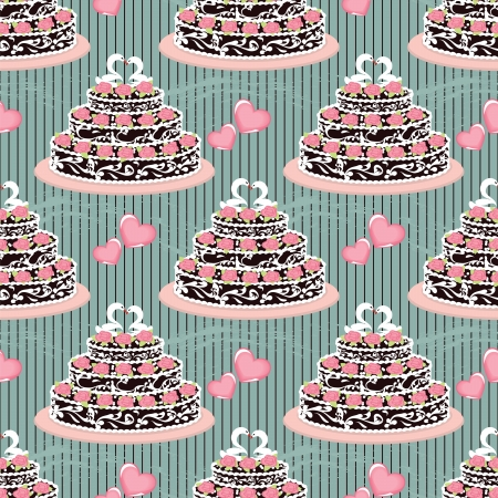 Seamless pattern cakes for holiday Vector