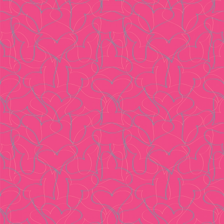 Cute hearts seamless pink pattern Stock Vector - 14131724