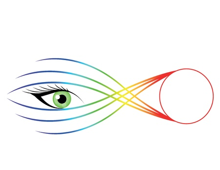eyelids: Striking eye illustration with color abstract.
