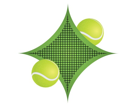 Tennis emblem and symbols isolated on white background. Stock Vector - 14471124