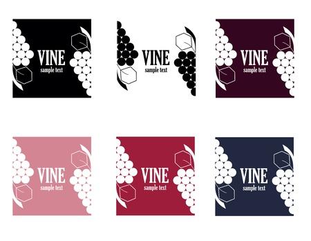set of six colored elegance vine logo Stock Vector - 16659594