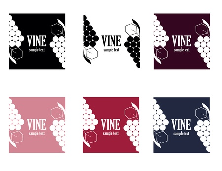 set of six colored elegance vine logo Stock Vector - 16659594