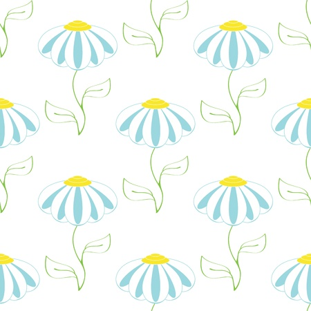 seamless pattern with white camomile on white background Stock Vector - 16726436