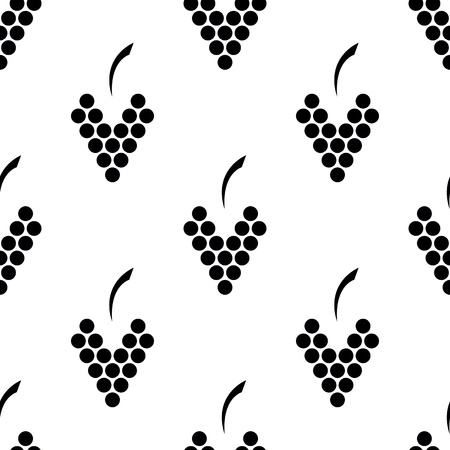 seamless pattern with  elegance bunch of  grapes Vector