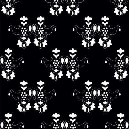 revivalism: elegance vine abstract seamless pattern Illustration