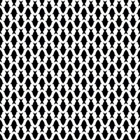 Seamless pattern with black fish Stock Vector - 17595050