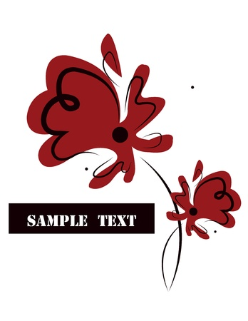 white background with red  poppy Stock Vector - 17818293