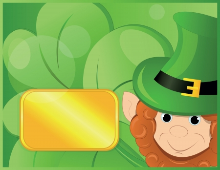 patrik day: background with leprechaun or gnome on patrick day Illustration