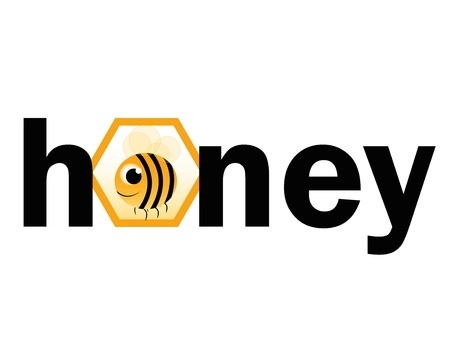bee with text on white background Vector