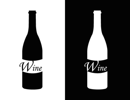 set symbol of wine as bottle Stock Vector - 18512743