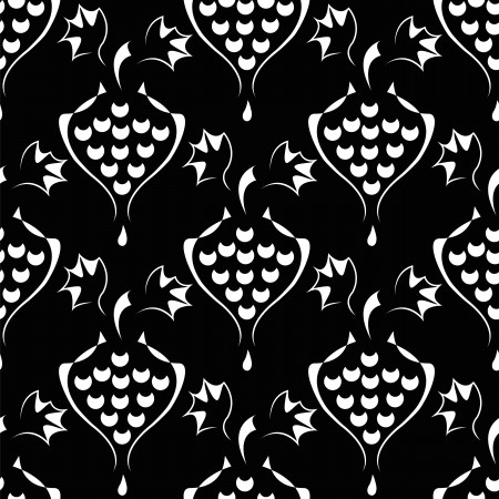 seamless pattern with  elegance vine or wine symbol Vector
