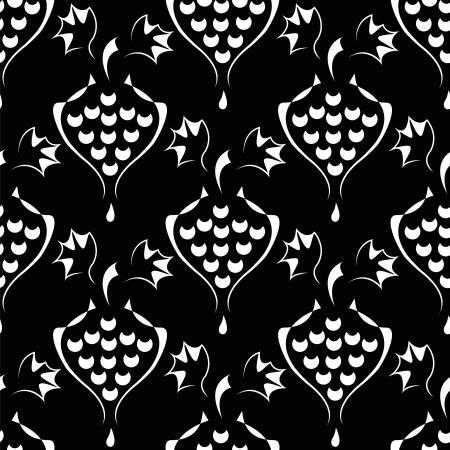 revivalism: seamless pattern with  elegance vine or wine symbol Illustration